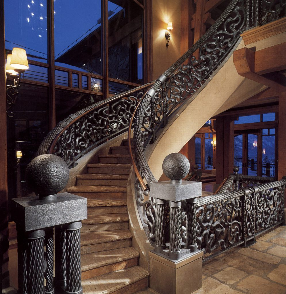 Forged Iron railing Monumental Stairs