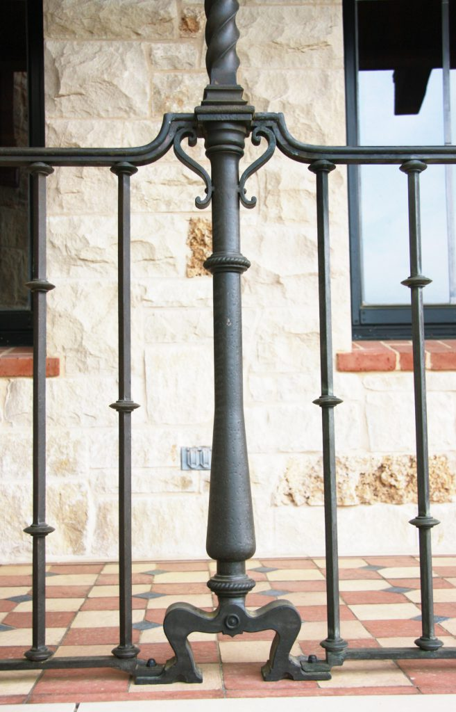 Bronze Column and Railing with Patina Finish