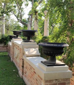 View of 4 Bronze Urns