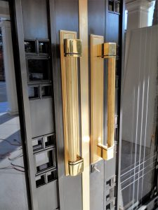 Custom Bronze Handles and Entry Door