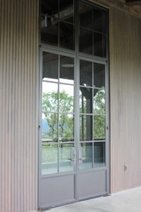 Custom Steel Door and Transom Window Details